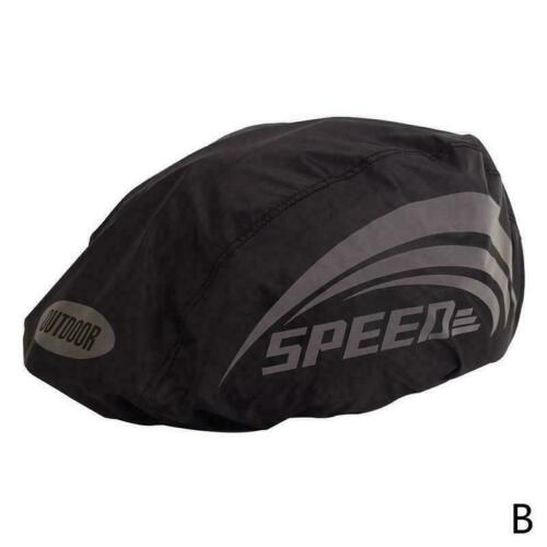 1* Waterproof Bicycle Helmet Cover With Reflective Rain Cover Bike Cycling W3E2