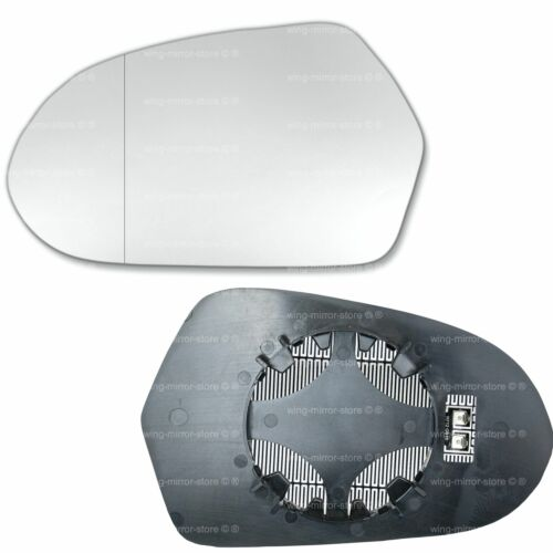 Left Passenger side for Audi A6 2011-2018 Wide Angle heated wing mirror glass