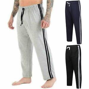 Mens-Loungewear-Pyjamas-Lounge-Pants-Nightwear-Comfy-Striped-Trousers-Bottoms