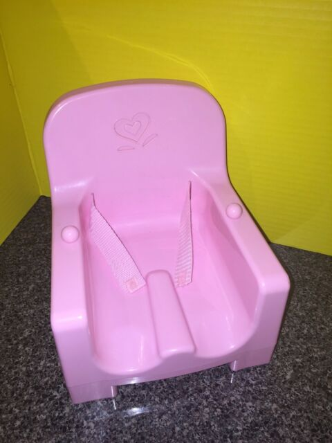 American Girl Bitty Baby S Booster Seat For Dolls High Chair Pink