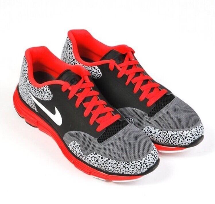 purchase cheap abf21 bcba3 ... Nike Lunar Safari Fuse Sz 9 Black Grey Crimson Crimson Crimson Red  White Atmos Air Max ...
