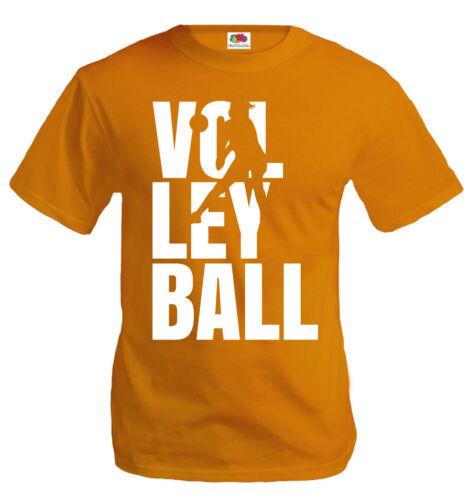 buXsbaum® Herren Unisex T-Shirt Volleyball Type Ballsport Teamshirt Mannschaft