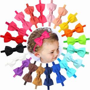 c8ad0ec28 20 Baby Girl Headband Bow Grosgrain Ribbon Hair Bow Hair Band for ...