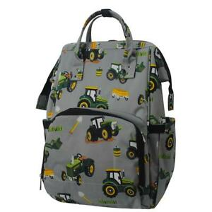 Tractor Farm Print NGIL Diaper Bag Baby Kids Toddler Mom Backpack Free Ship! NEW