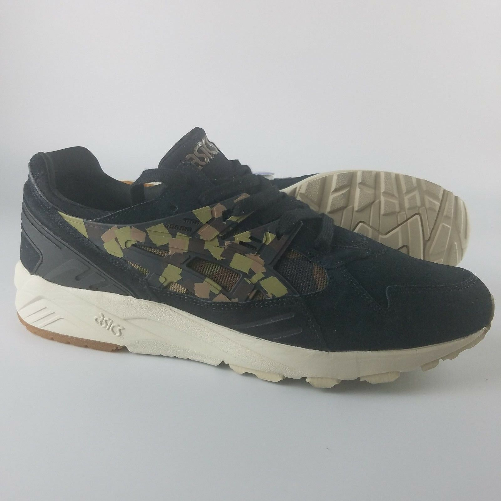 Asics Gel-Kayano Men's Running Shoes HL7C1 Black Martini Olive Forest Camo