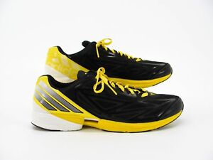 newest 43f76 720c5 Image is loading Adidas-Crazy-Fast-Men-Black-Yellow-Sneaker-Running-