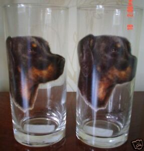 Doberman-Drinking-Glass-Pair