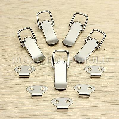 1/4/10Pcs Stainless Steel Spring Toggle Latch Catch For Cases Boxes Chests Lock