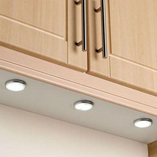 12v Under Cabinet Round LED Light Fitting 2 Watt Cool White//Warm White