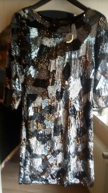 Pailletten Kleid Brian Rennie -ex Designer bei Escada Gr. 34-36 NEU