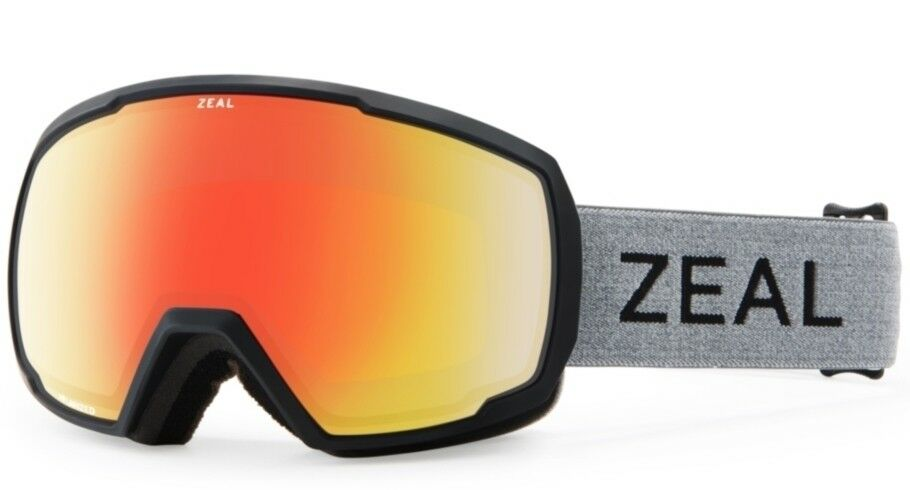 NEW Zeal Nomad Grey Red Mirror Polarized Mens Ski Snowboard Goggles Msrp