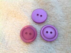 NEW 25 PC BAG PINK   PEARL FINISH 3//8 INCH BUTTON 4 HOLE