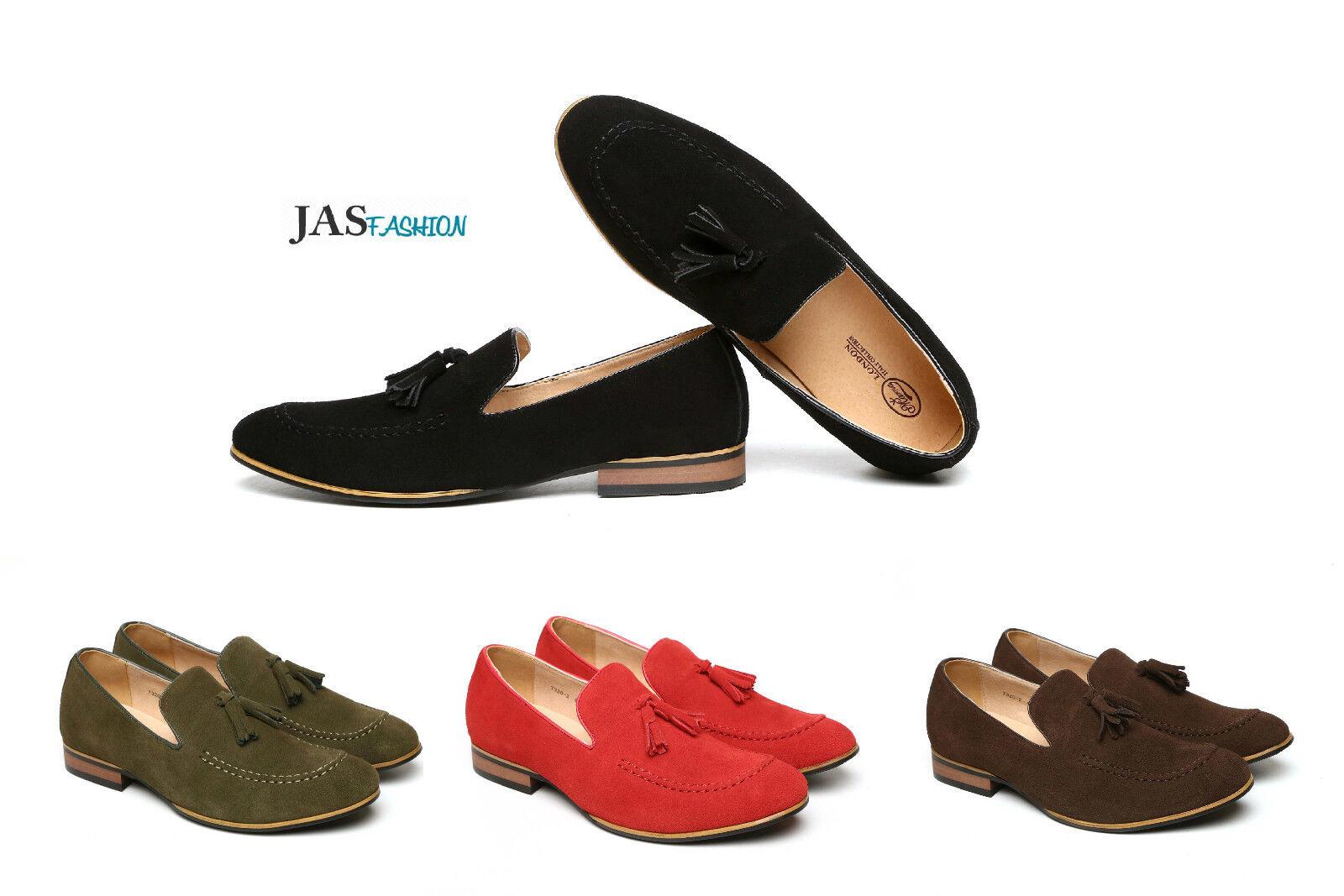 Leather Loafers for Men Smart Slip On Designer  Tassel Formal Casual shoes Size