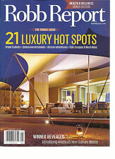 ROBB REPORT, THE TRAVEL ISSUE 21 LUXURY HOT SPOTS JANUARY, 2016 ( HEALTH & WELL