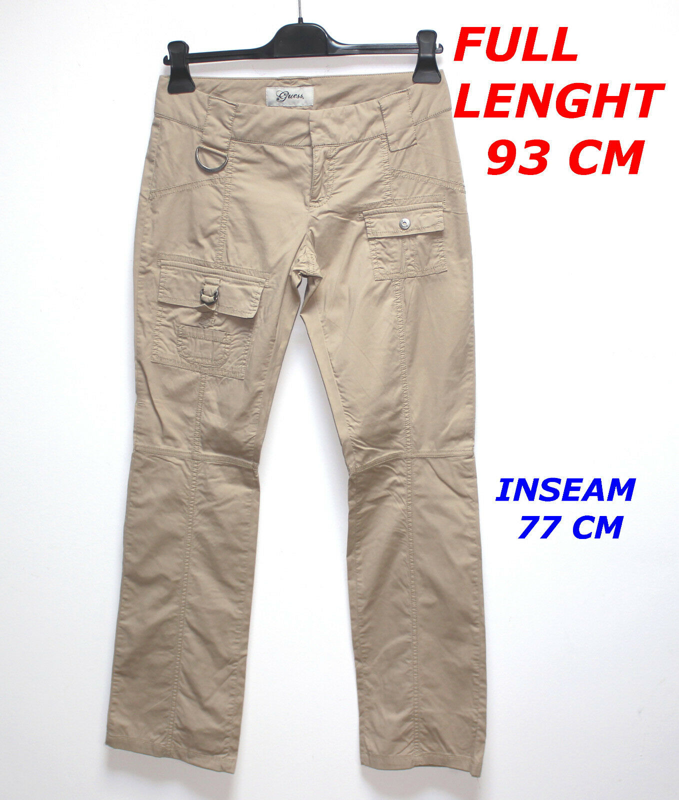 GUESS BROWN BEIGE COLOR PANT MARKED SIZE 26 LENGHT 93 CM 98 % COTTON