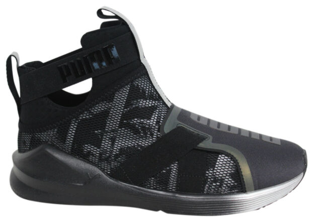 73d6e62eb1a PUMA Fierce Strap Swan Women Fitness Shoes Black UK 5 for sale ...