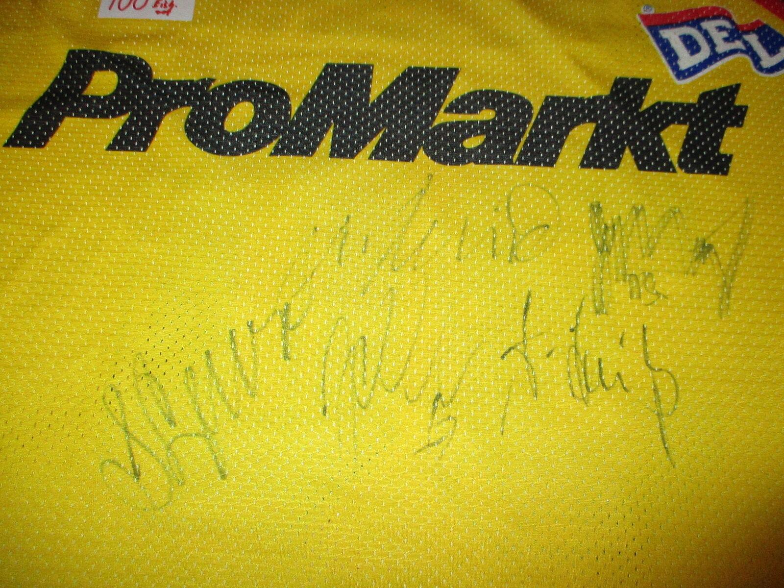 Kölner Kölner Kölner Haie Original Trikot 1994 95 + Nr.30 Hohenberger + Handsigniert Gr.XL TOP   | Marke  | Marke  | Deutschland Shops  f7d76d