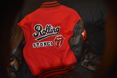 RARE ROLLING STONES 1997-98 TOUR VARSITY JACKET EXCELLENT CONDITON SWEET