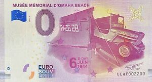 BILLET-0-EURO-MUSEE-MEMORIAL-D-039-OMAHA-BEACH-FRANCE-2018-NUMERO-2200