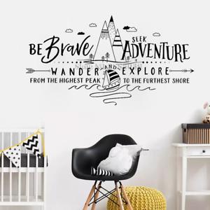 Wall Sticker Be Brave Seek Adventure Wander Explore Wall Decal Adventure Nursery