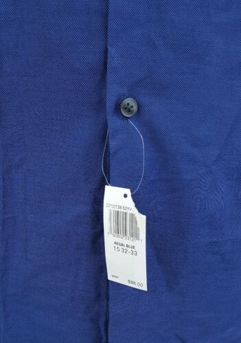 Regal U Button Up 33 hombre Blue s 15 Nwt Camisa 32 s Varvatos John 98 L a 5f5IH