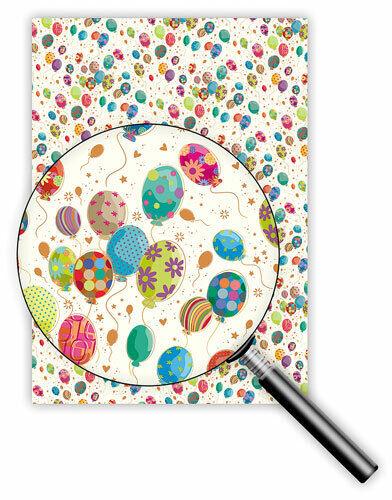 * Quire * Exclusives * papel de regalo 50 x 70 cm * colorido globos **