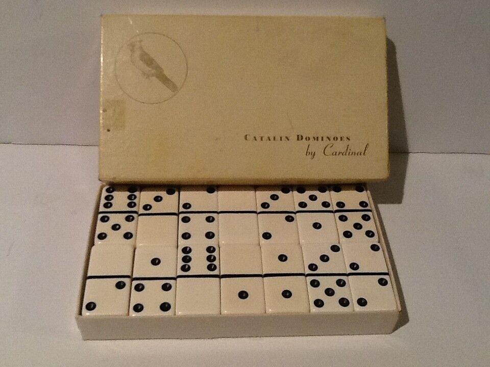 Vintage dominó gigante blancoo Jumbo Cochea súper Grueso Catalin por el Cochedenal