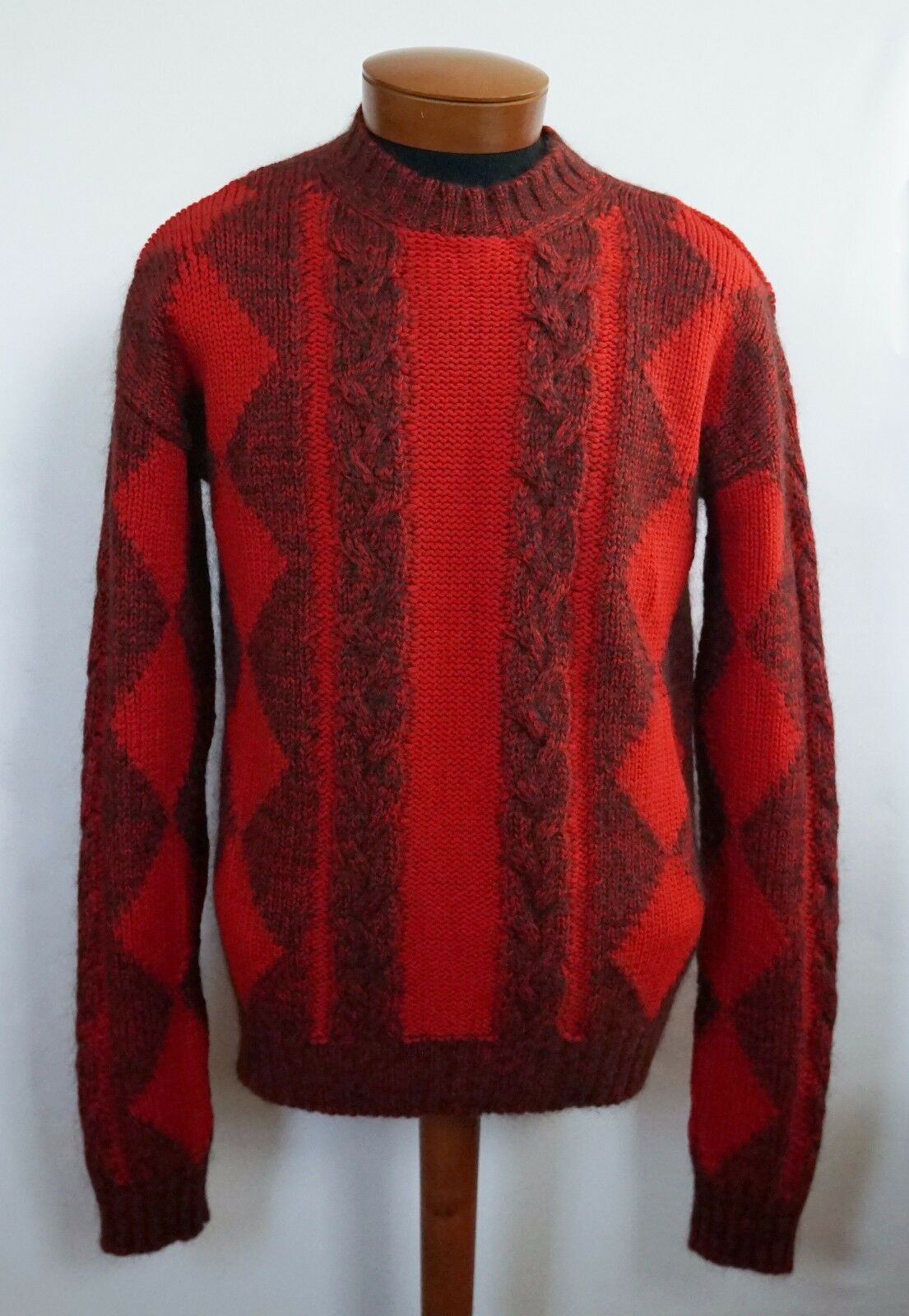 1225 NWT Authentic VERSACE WOOL MOHAIR Knitted Sweater IT-52/L IT-54/XL