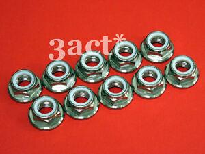 Titanium/Ti M10 x 1.25 Pitch Sprocket Flange Lock Nut 10pcs Honda Suzuki Yamaha