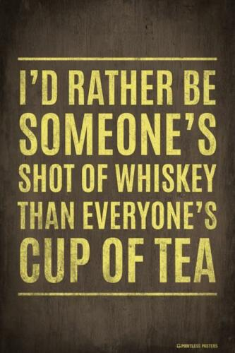 I/'D RATHER BE SOMEONE/'S SHOT OF WHISKEY FUNNY WITTY PP045 POSTER 12x18
