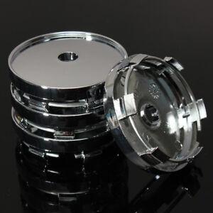 4x-Universal-Auto-Nabenkappen-Nabendeckel-Felgenkappen-Radkappen-Chrom-60mm