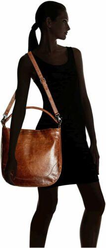 Frye Melissa Leather Hobo, Cognac, One Size, Cogna