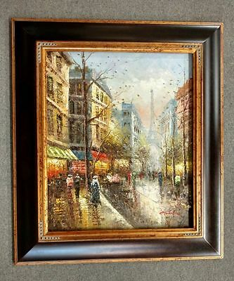 4-5-034-fancy-Mahogany-Brown-Ornate-kinkade-Oil-Painting-Wood-Picture-Frame-240G