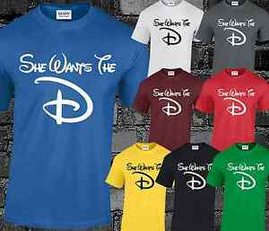 b069d7b0 She Wants The D Mens T Shirt Funny Rude Offensive Top Disney ...