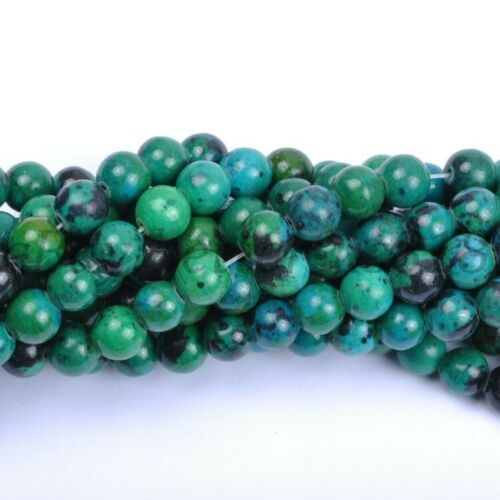 Wholesale 100Pcs Natural Gemstone Round Charms Loose Spacer Beads 6MM