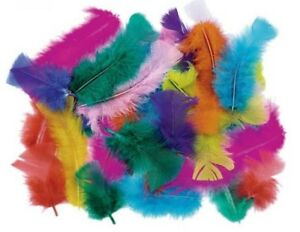 5-Grams-Mixed-Colour-Turkey-Marabou-Fluffs-Feathers-Fishing-Crafts