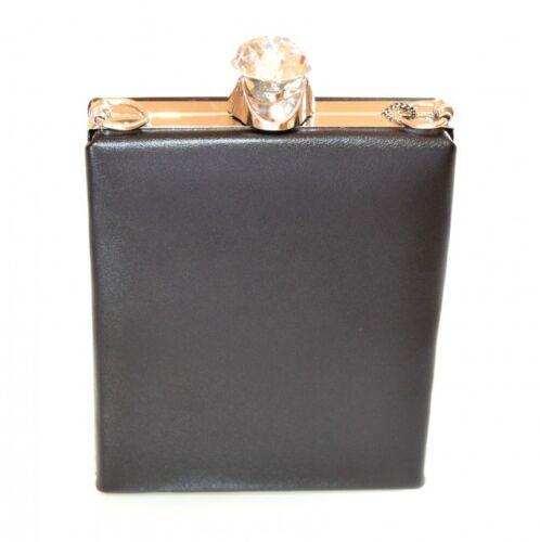 Clutch Perfiles Cerimonia Plata Negro Elegante Pochette F10 Mujer Bolsa Cristal 7gWYqOTqw