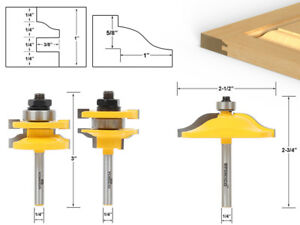 Image is loading Ogee-3-Bit-Cabinet-Door-Router-Bit-Set-  sc 1 st  eBay : cabinet door router bit - Cheerinfomania.Com