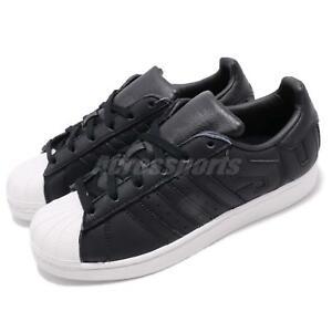 the latest 4c395 92b4f Image is loading adidas-Originals-Superstar-Big-Logo-Black-White-Men-