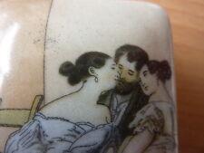 Peter Fendi Superb porcelain erotic pill box, trinket box or snuff box 914-2A