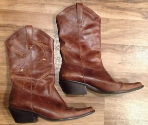 5a9551da409 Details about EUC MATISSE Cowboy Boots WMS Sz 8.5 M brown leather upper 13
