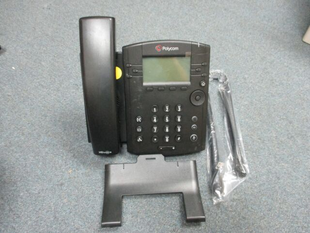 Certified Refurbished PoE without Power Su POLYCOM 2200-46135-025 VVX 300 6-line Desktop Phone with HD Voice