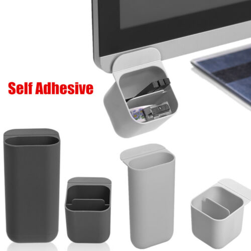 Self Adhesive Pencil Holder Desktop Organizer Pen Case Computer Office Home NEW