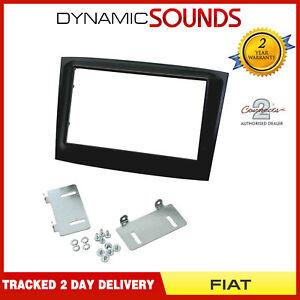 CT23FT24-Car-Double-Din-Fascia-Panel-Adaptor-Piano-Black-For-Fiat-Doblo-2015-gt