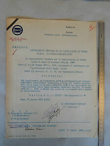 UNICO: DOC. COMMISSARIAMENTO FASCISTA FABBRICA LANCIA 1938 DALLOLIO