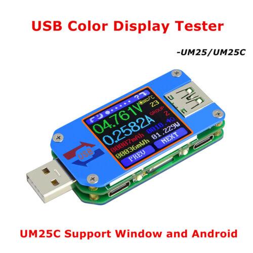 um25c für app usb 2.0 typ c lcd voltmeter amperemeter spannung strom meter