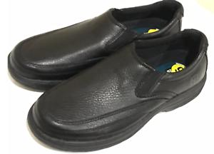 NUNN-BUSH-COMFORT-GEL-Loafer-Slip-On-Black-Moc-Toe-Casual-Dress-Shoes-Mens-9-M