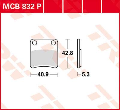 TRW Lucas Honda VFR 1200 XD Crosstourer ABS 12 Plaquettes de frein de station