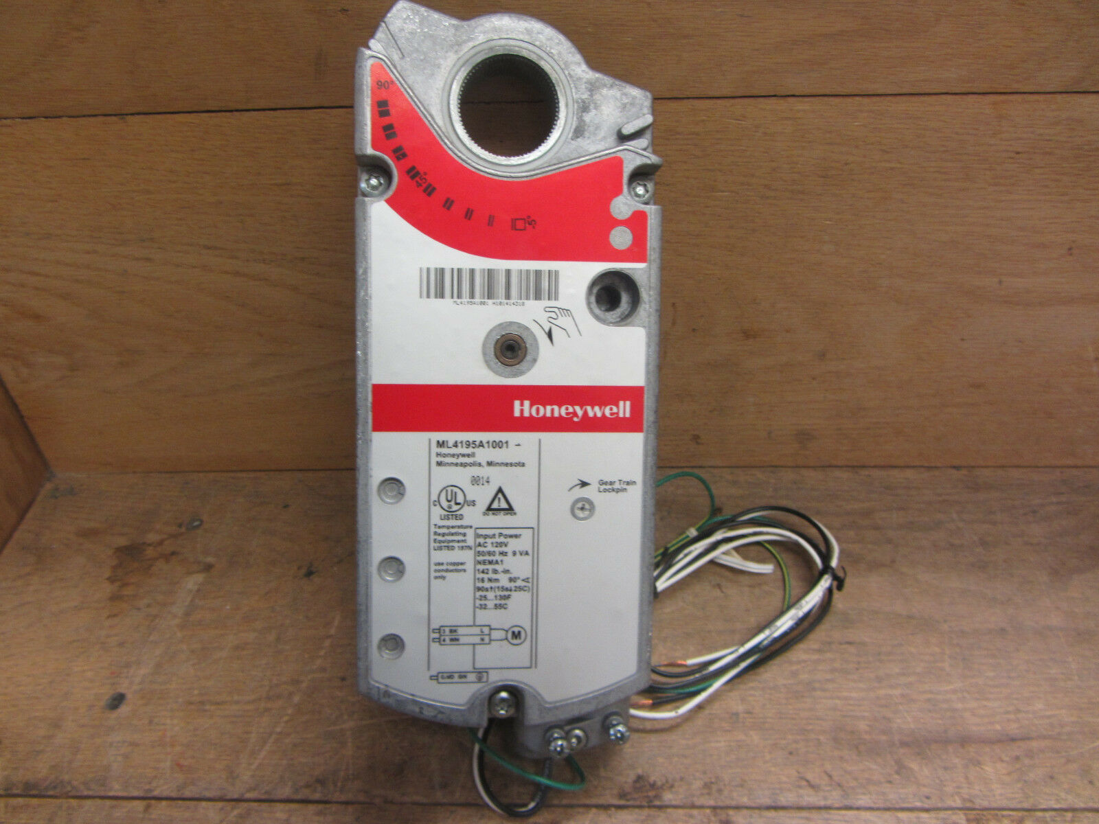 Honeywell Ml4195a1001 Direct Coupled Actuator 120vac 142 Lb 90 Deg L4064b Second Timing Ebay