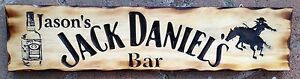 Personalised-Jack-Daniel-039-s-Rodeo-Horse-Bar-Rustic-Pine-Timber-Sign-600mm-x-140mm